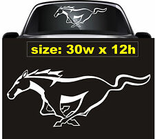 Ford Mustang Horse (30x12) Decal Window, Wall Vinyl, Your Choice of Color