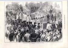 1872 Funeral Service For Lord Mayo Government House Calcutta