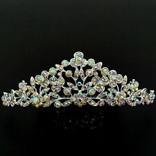 Gorgeous Clear Austrian Crystal Rhinestone Tiara Crown Bridal Party Pageant 5479