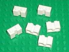 6 x LEGO white Brick ref 4216 for roller door / 7744 10219 7642 10197 7945 ..