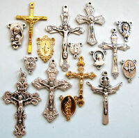 Crucifixes and Centres For Rosary Making 16pcs