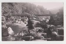 RPPC,Dartmeet,U.K.Stone Bridge over River Dart,Dartmoor,Devon,Used,Devon,1935