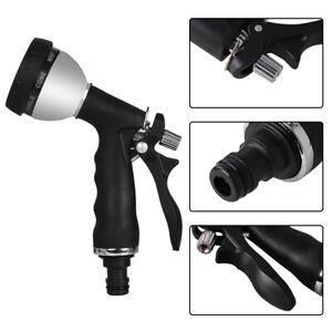 Garden Hose Spray Nozzle 8 Gear Gun High Pressure Washer Wand Car Zinc Sprayer