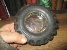 "FIRESTONE TIRE ASHTRAY rubber  VINTAGE ADVERTISING TRACTOR TIRE 6"" DIAMETER"