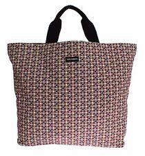 NWT DOLCE & GABBANA Mens Multicolor Hat Print Cotton Denim Shopping Gym Bag