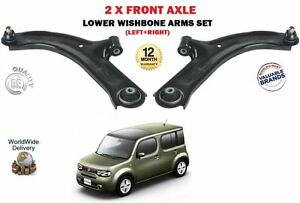 FOR NISSAN CUBE 1.5DT 1.6 Z12 2009 > NEW 2 X FRONT LEFT RIGHT WISHBONE ARMS SET