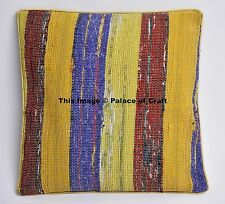 Stripe Cotton Indian Home Decor Handmade Chindi Cushion Pillow Cover Pillow Case