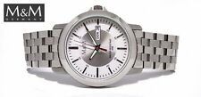 M&M Men's Watch with Tag / Date English/German - Solid Stainless Steel,