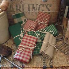 Homespun Fabric Samplers~Christmas Collection~Prims~Plaids~Checks~Stripes~Solids