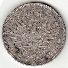 KINGDOM OF ITALY VICTOR EMANUEL III 1902R 2 LIRE VF/XF
