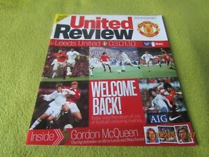 Manchester Utd v Leeds United - FA Cup 3rd Round in 2010 at Old Trafford