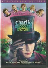 CHARLIE AND THE CHOCOLATE FACTORY JOHNNY DEPP WS (2005) DVD BRAND NEW SEALED