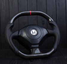 Custom Carbon Fiber flat bottom steering wheel Honda s2k S2000 AP1 AP2 2001-2009