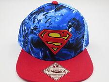 Superman DC Comics All Over Print Bioworld Collectible Snapback Hat SALE