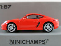 Minichamps 870 065221 Porsche 718 Cayman (2016) in orange 1:87/H0 NEU/OVP