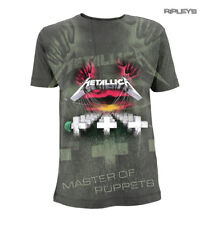 Official Grey T Shirt Metallica Album MASTER of Puppets All Over All Sizes