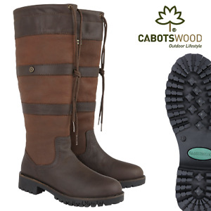 CABOTSWOOD AMBERLEY LADIES WOMENS COUNTRY WATERPROOF RIDING LEATHER  BOOTS BISON
