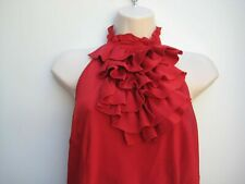 Red silk halter neck top from Coast size 12