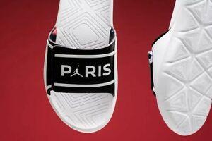"""Nike Air Jordan Hydro 7 V2 PSG """"Paris"""" Sandals / Slides CJ7244 001 Men's Size 12"""