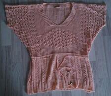 Damen Pullover Pullunder Lachs 38/ M Kurzarm Oberteil
