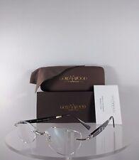 Brand New Authentic Gold & Wood CM2N41 Rimless Eyeglasses Wood Silver N11 16