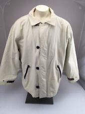 Vtg Original BUGLE BOY OUTERWEAR tan zip button heavyweight winter Jacket XL
