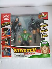 WWE Stretch Superstar Smackdown 3 Pack .Age 5+,*NEW *