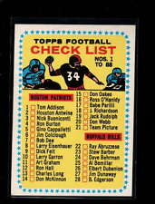 1964 TOPPS #82 CHECKLIST #1 CARDS #1-88 EX-MT+ D6703