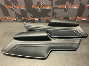 2020 FORD MUSTANG GT OEM BLUE STITCHED DOOR PANEL LEATHER INSERTS