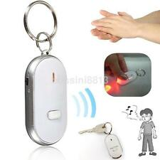 White Alarm Locator Tracker Lost Keys Finder Whistle Sound Control LED Tracer