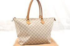 Authentic Louis Vuitton Damier Azur Saleya MM Shoulder Tote Bag N51185 LV 58302