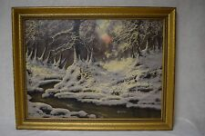 "Hungarian Jozsef d Varga Signed Oil on Canvas Painting Framed 34"" x 26"""