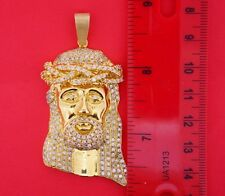 4 Carat Diamond Mens Jesus Face 10K Gold & Real Diamond Pendant Charm ASAAR Deal