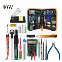 Electric Soldering Iron Gun Tool Kit 60W Welding Desoldering Pump Tool Set US/AU