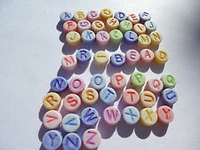 X2 FULL SETS A-Z GUARANTEED Acrylic Alphabet Beads,Mixed Flat Round PASTEL