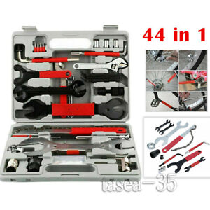 44PCS Home Cycling Complete Portable Bike Bicycle Repair Tools Tool Kit Set NEW·
