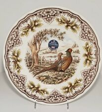 The Victorian English Pottery Pheasant  Woodland Dinner Plate Thanksgiving New