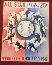 1947 baseball All Star program Chicago Cubs Wrigley Field DiMaggio, Ted Williams