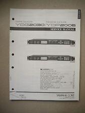 Yamaha Graphic Equalizer YDG2030 parametrischer Equalizer YDP2006 Service Manual
