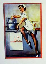 "Vintage SEXY NURSE PIN-UP  2"" x 3"" Fridge MAGNET ART PIN UP"