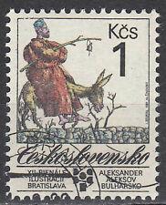 Tschechoslowakei gestempelt Esel Tier Märchen Zeichentrick Animation / 393