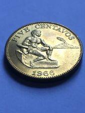 PHILIPPINES 1966 Five Centavo Coin KM 187 AU+