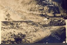 MACE IDAHO BEFORE AND AFTER THE 1910 SNOW SLIDE 2 Original Photos Single Mount