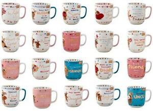 Boofle Ceramic Mugs - Coffee Tea Relations Friend Mum Dad Family Mugs