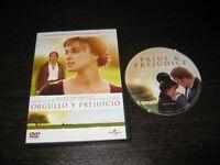 Orgoglio Y Perjuicio DVD Keira Knightley Matthew Macfadyen Brenda Blethyn