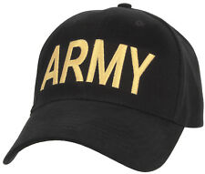 US Army Hat Black Military Baseball Cap Ballcap Rothco 9285
