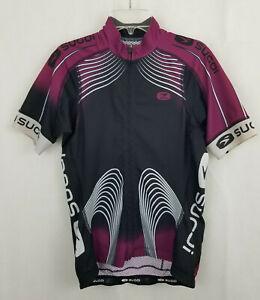 SUGOI Womens MEDIUM Purple Berry RSE Team Jersey Medium Cycling Tri Mtb