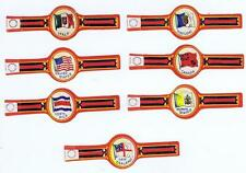 set of 8 flags Canada Spain  cigar bands vitolas Bauchbinden Sigarenbandje 63