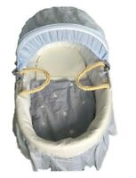 Moses Basket with bedding Blue