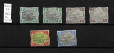 Federated Malay States, 1900 Tigers with shades, wmk Crown CA, LMM (M436)